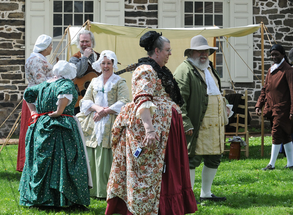 Description of . Colonial May Fair held at Pottsgrove Manor Saturday. Photo by John Strickler The Mercury