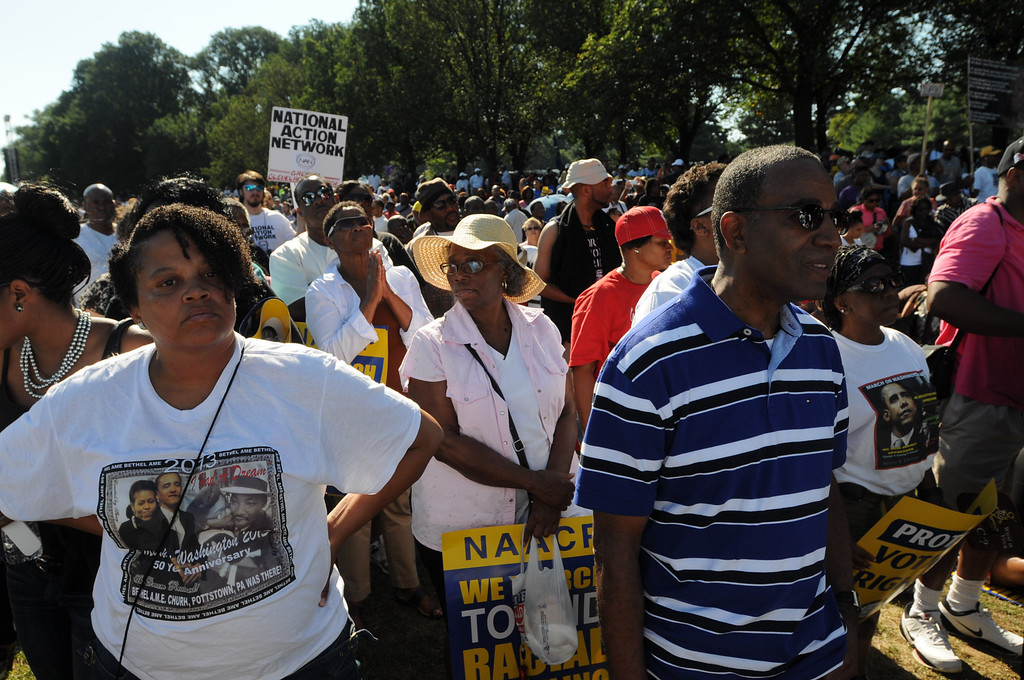 . March on Washington-- Bethel AME church in Pottstown traveled to Washington, DC and joined thousands from around the country at the 50 th anniversary of the March on Washington. 8-24-2013 Photo by John Strickler/The Mercury