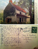 """A postcard of the Mouns Jones house dated Sept. 10, 1948. The note reads """"Dear Mrs. Hustead, Frederick and I have settled in at Reading for our last few days of vacation and finding we like it here - close enough (illegible word) so we feel safe about the car - yet new to us both - a nice change before we go back to our regular existence. Our visit with you and Roberts was t the high spot in our trip, just as it was last summer. It brought us great happiness and we thank you both for all you did for us."""" Signed Elinor Augustine."""