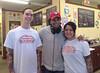 Patrick Nelson, M. Night Shyamalan and Amanda Nelson inside Nelson's Ice cream store in Royersford. (Photo courtesy Nelson's Ice Cream)
