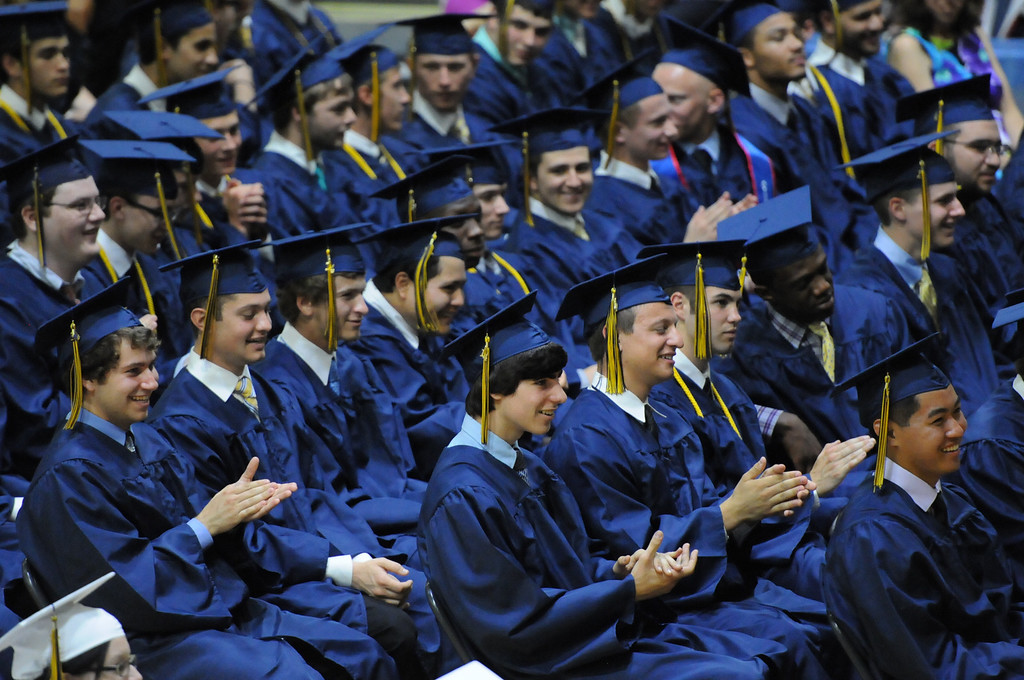. Members of the Spring-Ford High School class of 2014 celebrate their graduation during commencement exercises Thursday June 12, 2014. Photo by John Strickler The Mercury