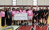 "Montgomery County Community College's Mustangs women's basketball  team sold raffle tickets and collected monetary donations for its ""Hoops for Hope"" campaign from Jan. 2 through Feb. 8 which raised breast cancer awareness and scholarship funds for students impacted by the disease. The $590 collected during the campaign benefits the Prayers and Poinsettias scholarship fund through MCCC's Foundation. The scholarship provides critical financial aid support to students who have been impacted by breast cancer.<br /> <br /> Submitted by Montgomery County Community College"