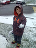 Katy Clark Potpinko submitted this photo via Facebook of the first snowball of the season!