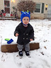 """Lisa Griesemer-Slater submitted this photo via Facebook, saying: """"Was not a fan of his first time in the snow."""""""