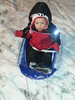 Erin Nase submitted this photo via Facebook of the first time playing and sledding in the snow.